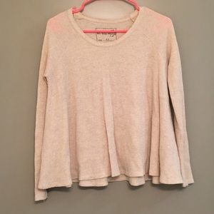 Oatmeal Colored Free People Flowy Henley